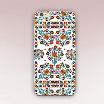 Bright Folk Art Phone Case - iPhone 6 Case - iPhone 5 Case - iPhone 4 Case - Samsung S4 Case - iPhone 5C - Tough Case - Matte Case - Samsung