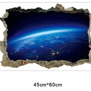 Creative 3D Universe Galaxy Wall Stickers For Ceiling