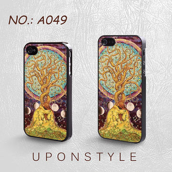 Phone Cases, iPhone 5 Case, iPhone 5s Case, iPhone 4 Case, iPhone 4s case, Tree of Life, iPhone Case, Skins, Case for iphone, Case No-049