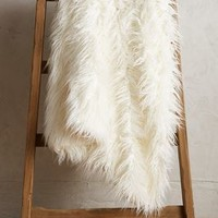 Warm Welcome Throw by Anthropologie in Ivory Size: One Size Throws