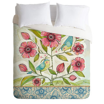 Cori Dantini Blue Birds Of Happiness Duvet Cover
