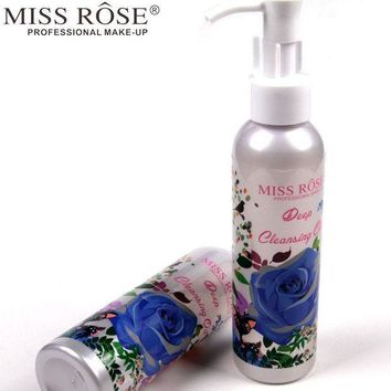 ESBON Miss Rose 1pc Makeup Remover Oil Deep Cleansing Press Pump for Eye and Lip Face Care Cleanser Gentle Zero Stimulation A158