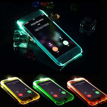 For Samsung S6 edge S7 Case for iPhone for Samsung Galaxy Grand Prime J5 J7 2015 2016 2017 LED Flash Remind Incoming Call Cover
