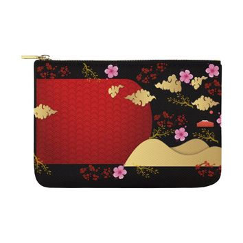 Pink Cherry Blossom Carry-All Pouch 12.5''x 8.5''