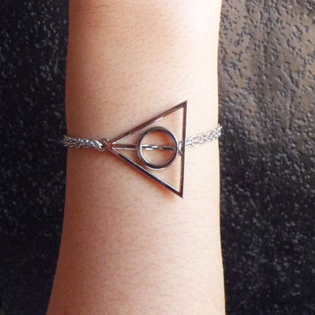 Harry potter Deathly Hallows ,steampunk bracelet,Harry potter Deathly Hallows bracelet