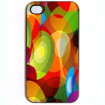 iPhone 4 4s Case Psychedelic Beautiful Colors Hard by KustomCases