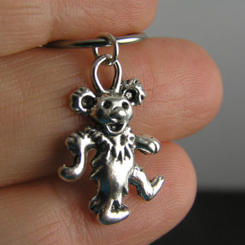 Grateful Dead Dancing Bear Captive Ring Cartilage Hoop CBR 14g 16g Belly Button Helix Earring Piercing Marching Bear 50th Anniversary