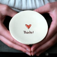 Personalized Love Ceramic Ring Dish Custom Plate Heart Pottery Bridal Plate Red Jewelry Dish