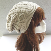 Twist Pattern Winter Knitted Beanies