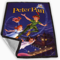 Flying With Peter Pan Blanket for Kids Blanket, Fleece Blanket Cute and Awesome Blanket for your bedding, Blanket fleece **