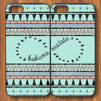 Hakuna Matata BFF Linked Case Aztec Chevron NEW iPhone 4 4S 5 5S Custom Case Cover Plastic Rubber Silicone BF2