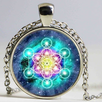 Psychedelic Sacred Geometry Necklace