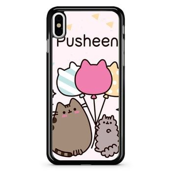 Pusheen The Cat Baloon iPhone X Case