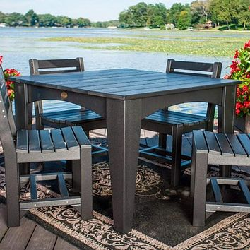 LuxCraft Recycled Plastic Island Dining Table