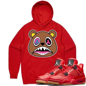 Crazy Baws Red Sneaker Hoodie - Jordan Retro 4 Singles Day