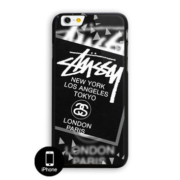 Stussy Black World Tour Ny La Tokyo London Paris iPhone 6 Plus Case