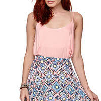 LA Hearts Diamond Print Skater Skirt at PacSun.com