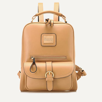 Retr  Stylish Lady Casual PU Leather Backpack  Shoulders Backpack Japanese School Bags For teenage Girls  Mochila