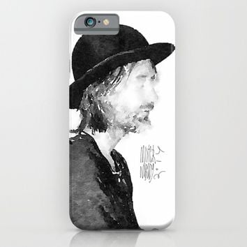 Thom Yorke Watercolor portrait by MrNobody iPhone & iPod Case by Mrnobody