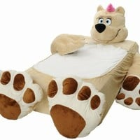 Incredibeds Kids Bed Childs Toddler Teddy Bear Beige Frame With FREE BLANKET:Amazon:Baby