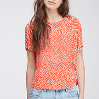 Abstract-Patterned Blouse