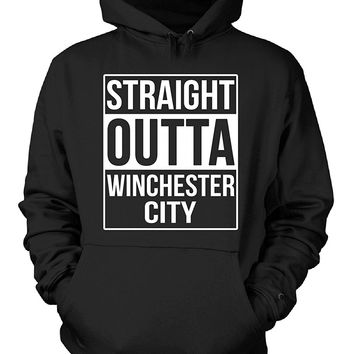 Straight Outta Winchester City County. Cool Gift - Hoodie