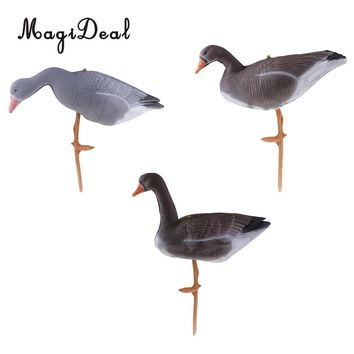 Foldable Goose Hunting Decoys Lawn Ornament Pond Garden Decoration Greenhand Gear 3 Style - Resting, Standing, Eating