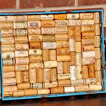 Wine Cork Serving Tray or Message Board ~ Perfect Gift for Valentine's, Weddings, Anniversary, Housewarming, or Birthdays!!