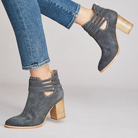 Anthropologie Wrapped Strap Booties