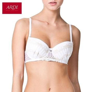 Woman's White Bra With a Padded Cups On Frames