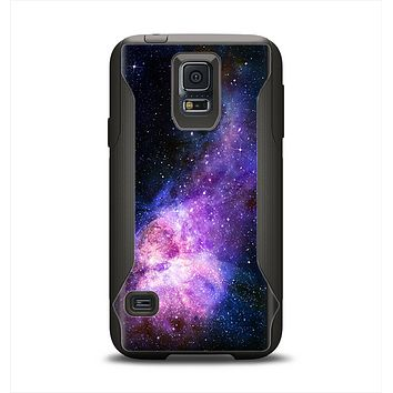 The Vibrant Purple and Blue Nebula Samsung Galaxy S5 Otterbox Commuter Case Skin Set