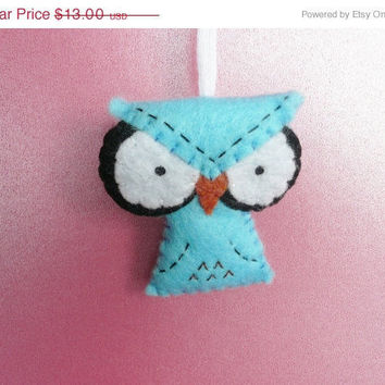 Christmas in July 20% OFF Owl Christmas decoration angry felt ornament