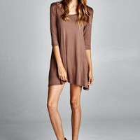 Casual Mocha Swing Dress