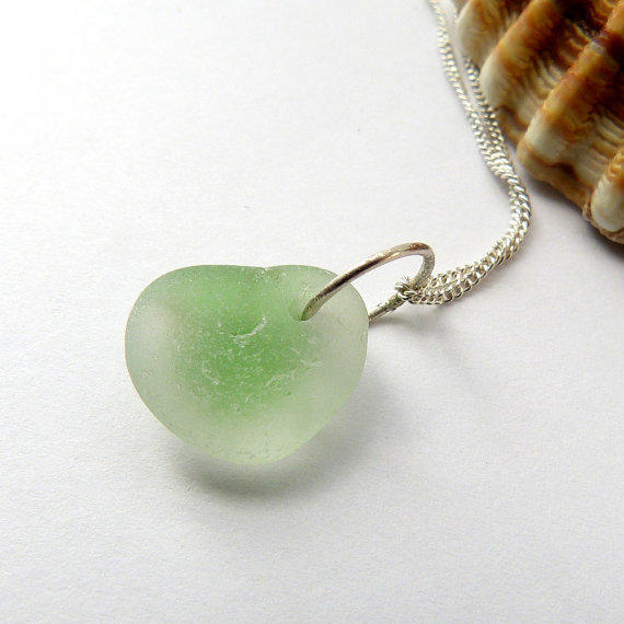 Sea Glass Necklace Sterling Silver