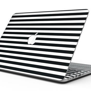 Slate Black Bold Hoizontal Lines - MacBook Pro with Retina Display Full-Coverage Skin Kit