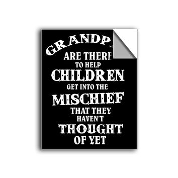 "FREE SHIPPING - ""Grandpa's Mischief"" Vinyl Decal Sticker (5"" tall) - Limited Time Only!"