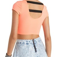 Strappy Back Neon Crop Top by Charlotte Russe