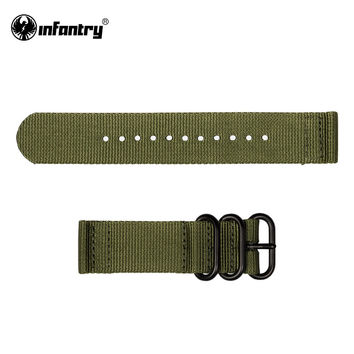 Watch Strap Army Military GREEN High Quality Nylon Fabric  Canvas Bands NEW Strong Watchbands