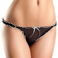 Mesh Ruffled Thong Panty Be Wicked