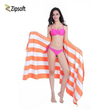 Microfiber Large size Beach towel 86*200cm Travel bath Drying Sports Swiming Bath body Yoga Mat Drape Stripe Flag Zipsoft
