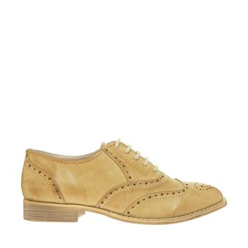London Rebel Beige Brogue