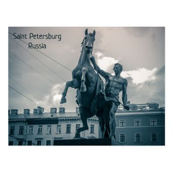 """The Horse Tamers"", St.Petersburg, Russia. Postcard"
