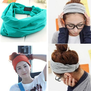 Candy Color Cotton Elastic Headbands
