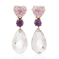 One-Of-A-Kind Heart Kunzite Drop Earrings | Moda Operandi