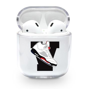 Large Jordan 5 Retro Shoe Emoji Airpods Case
