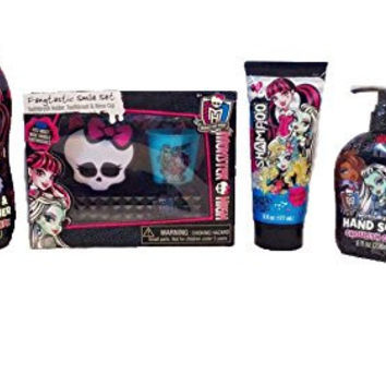 Mattel Monster High Shampoo, Hand Soap and Toothbrush Fangtastic Gift Set