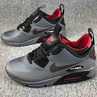 NIKE AIR MAX 90 men and women fashion high top cushion comfortable shock absorbing shoes F-CSXY dark grey