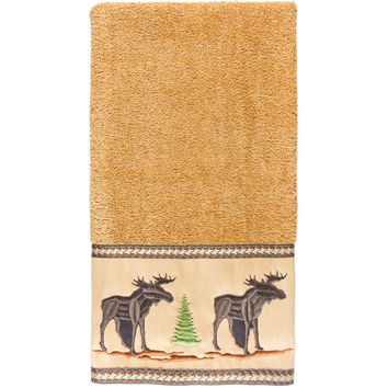 Moose in Forest Hand Towel