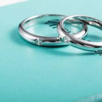Tiffany & Co. Single Diamond couples Ring rings