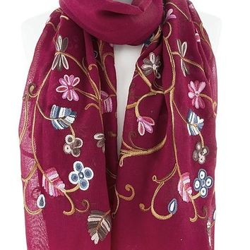 Cozy In The Flowers scarf